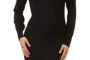 400x600px 10 Long Sleeve Black Sweater Dress Picture in Fashion