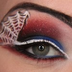 Spiderman themed eye makeup , 5 Spider Web Eye Makeup In Make Up Category