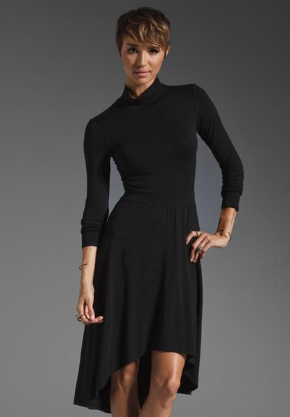 Splendid long sleeve turtleneck dress 7 long black for Long sleeve turtleneck wedding dress