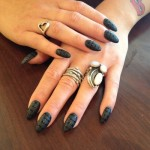 Stiletto Nails with matte Design , 7 Stiletto Nails Designs In Nail Category