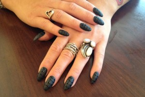 Nail , 7 Stiletto Nails Designs : Stiletto Nails with matte Design