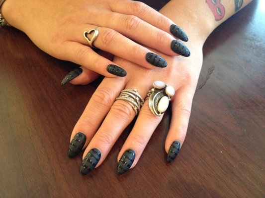 Stiletto nails with matte design 7 stiletto nails designs large 533 x 400 prinsesfo Choice Image
