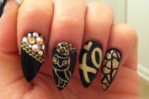 500x669px 7 Stiletto Nails Designs Picture in Nail