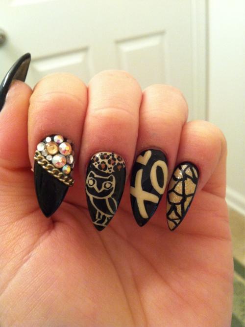 stiletto nails ideas 6 stiletto nail designs woman fashion