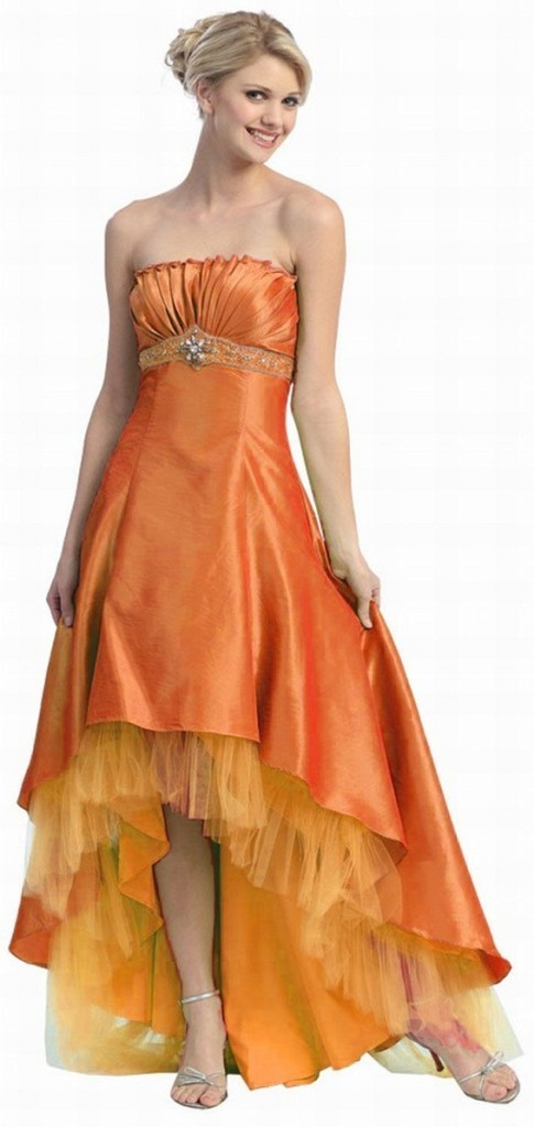 Fashion , Senior Graduation Dresses Collection : Strapless High Low Prom Dresses For Junior Party Cocktail Dresses