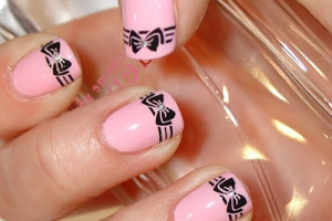Nail , 7 Bow Nail Designs : Stylish Bows Nail Art Designs