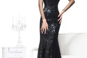 Fashion , 8 Long Black Mermaid Dress : Sweetheart Mermaid Long Black Evening Dresses
