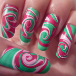 Swirl Spiral Water Marble Nail Art , 6 Swirl Nail Designs In Nail Category