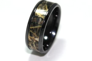 Jewelry , Mossy Oak Camo Wedding Rings : Titanium Camo Wedding Rings