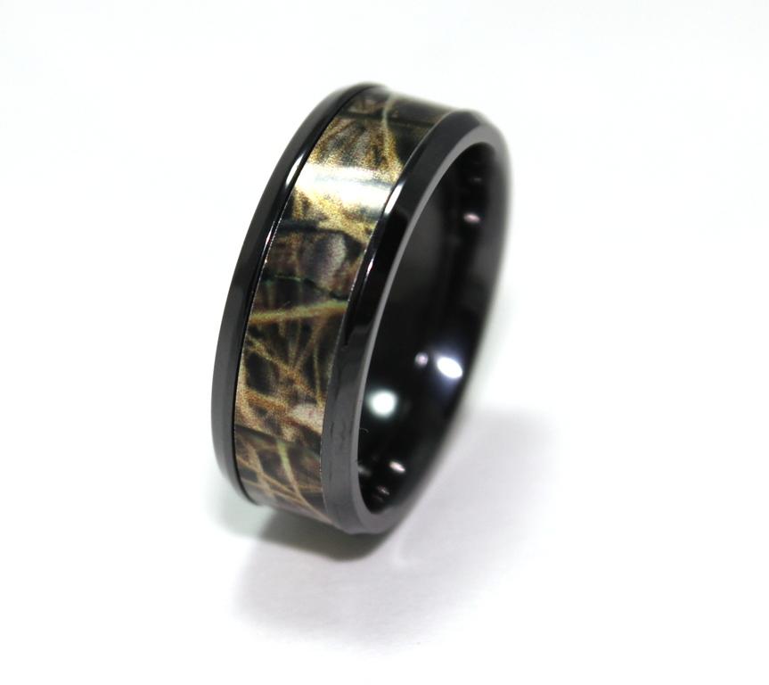 Jewelry , Mossy Oak Camo Wedding Rings : Titanium Camo Wedding Rings