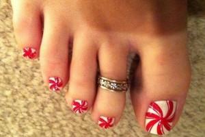Nail , 6 Christmas Toe Nail Designs : Toe Nail Art Designs