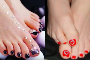 Nail , 6 Christmas Toe Nail Designs : Toe Nail Art Designs for Christmas