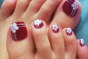 Nail , 6 Christmas Toe Nail Designs : Toe Nail Designs