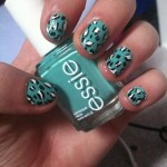 Turquoise Leopard Print Nail Design , 6 Turquoise Nail Designs In Nail Category