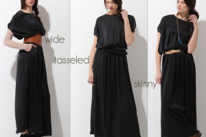 Fashion , 6 Trick How To Wear A Long Black Maxi Dress : Wear A Maxi Dress with a belt