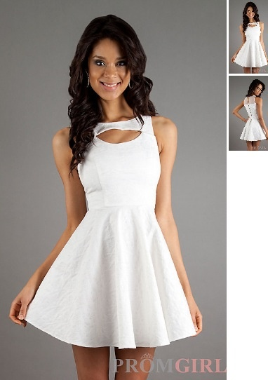 Fashion , Senior Graduation Dresses Collection : White Senior Graduation Dresses
