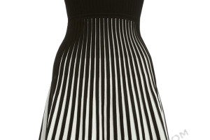 Fashion , 10 Little Black And White Dress : Zipper little black and white dress