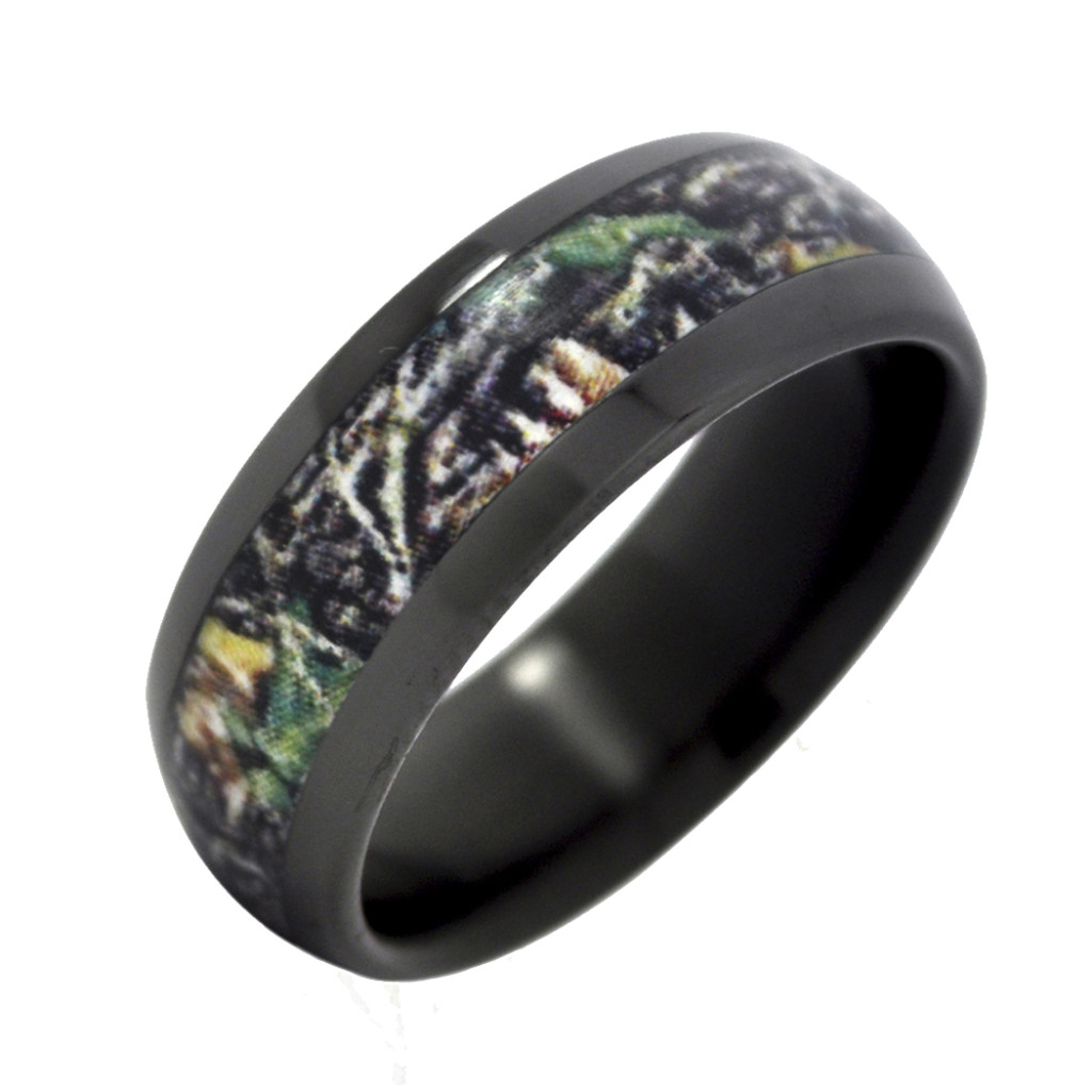 Jewelry , Mossy Oak Camo Wedding Rings : Zirconium With Mossy Oak Wedding Ring