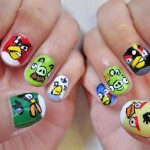angry birds nail art designs , 7 Cartoon Nail Designs In Nail Category