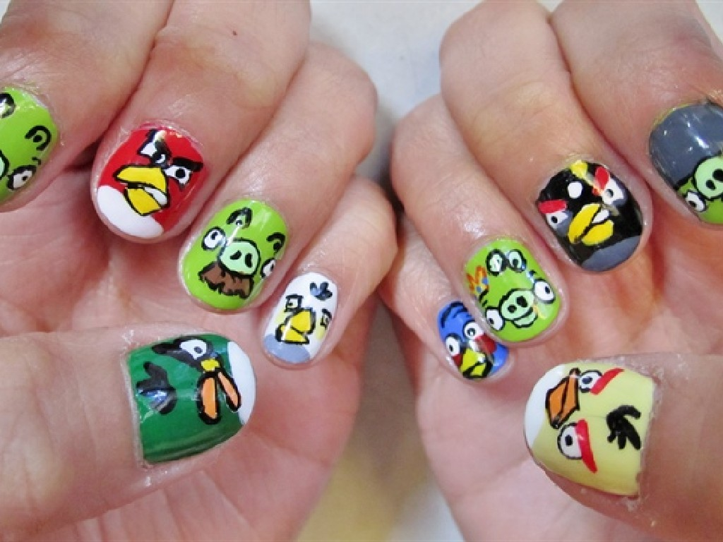Angry Birds Nail Art Designs : 7 Cartoon Nail Designs | Woman ...