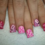beautiful nail designs , 7 Breast Cancer Nail Designs In Nail Category