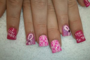 Nail , 7 Breast Cancer Nail Designs : beautiful nail designs