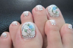 Nail , 6 Christmas Toe Nail Designs : beauty christmas toe nail designs