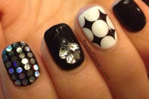 Nail , 4 Gel Nail Designs Tumblr : black and white Gel Nails