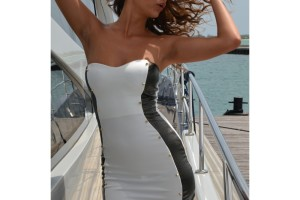 Fashion , 10 Little Black And White Dress : black and white mini dress