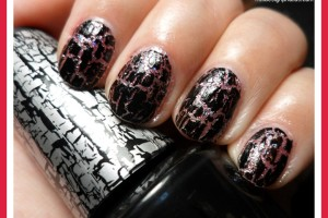Nail , 6 Crackle Nail Designs : black crackle nail polish