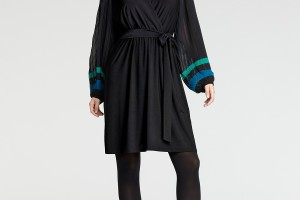 Fashion , 8 Long Sleeve Black Wrap Dress : black dresses with long sleeves