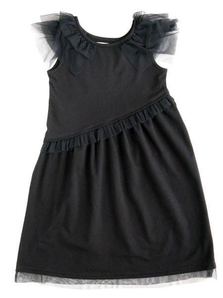 Fashion , 4 Black Little Girl Dresses : Black Flower Girl Dresses