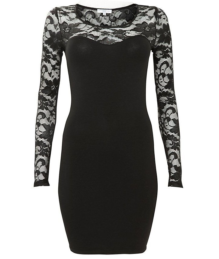 9 Black Lace Dress With Long Sleeves in Fashion