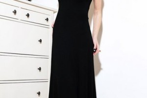 Fashion , 10 Sexy Long Black Dress : black long sleeve backless dress