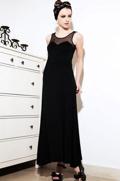 Fashion , 10 Sexy Long Black Dress : Black Long Sleeve Backless Dress
