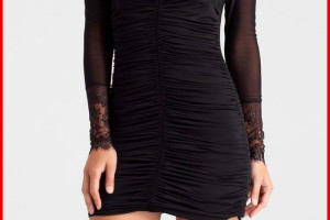Fashion , 9 Black Lace Dress With Long Sleeves : black long sleeve cocktail dress