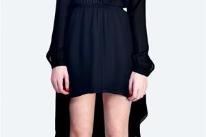 Fashion , 8 Long Sleeve Black Wrap Dress : black long sleeve shift dress