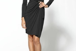 Fashion , 8 Long Sleeve Black Wrap Dress : black maxi dress with sleeves