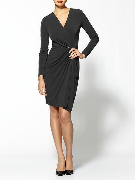 Fashion , 8 Long Sleeve Black Wrap Dress : Black Maxi Dress With Sleeves