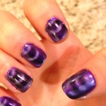 black purple magnetic nail polish , 8 Magnetic Nail Polish Designs In Nail Category