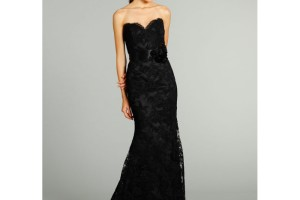 Fashion , 8 Long Black Mermaid Dress : black strapless mermaid prom dress