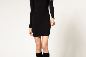 870x1110px 7 Long Black Turtleneck Dress Picture in Fashion