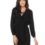 black wrap dress short sleeve , 8 Long Sleeve Black Wrap Dress In Fashion Category