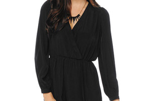 415x540px 8 Long Sleeve Black Wrap Dress Picture in Fashion
