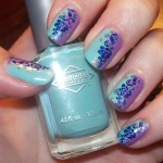 blue and purple floral nail for prom , 6 Blue Prom Nail Designs In Nail Category