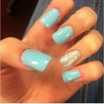 blue silver sparkle prom nail design , 6 Blue Prom Nail Designs In Nail Category