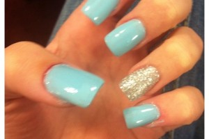 Nail , 6 Blue Prom Nail Designs : blue silver sparkle prom nail design