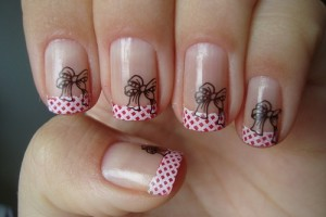 Nail , 7 Bow Nail Designs : bow nail design