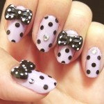 candy bow nail art design , 7 Bow Nail Designs In Nail Category