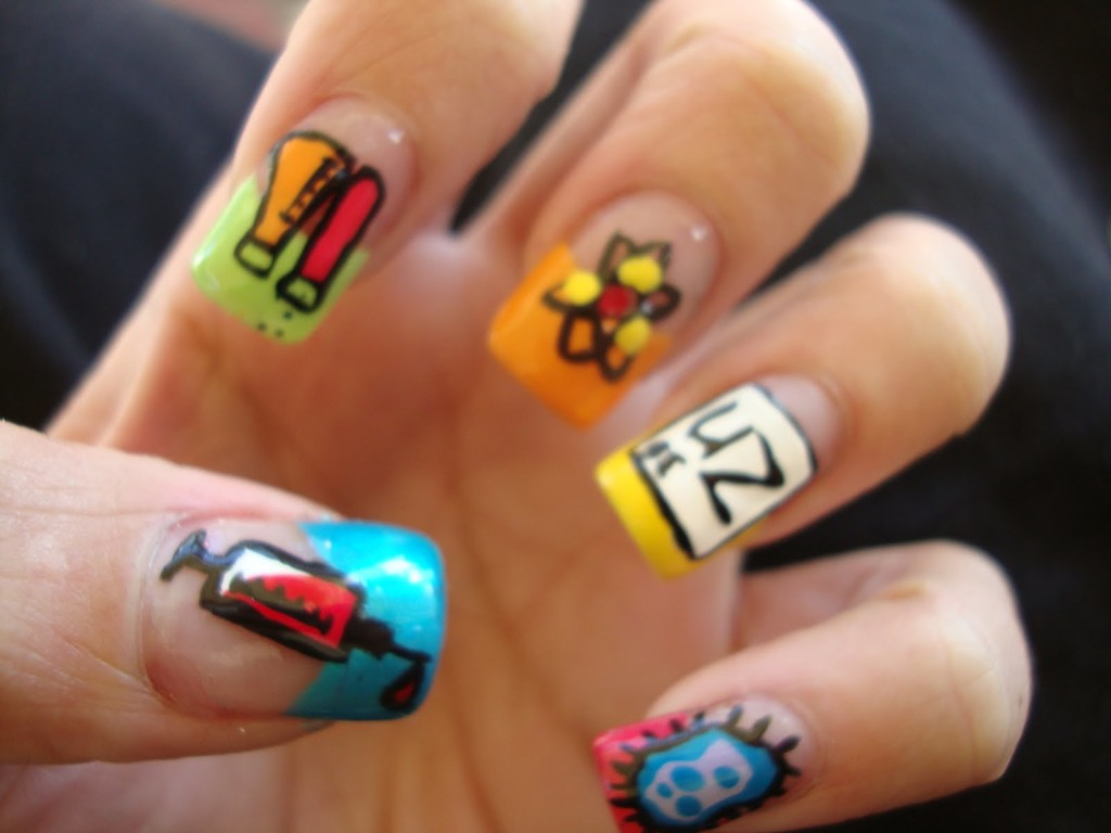 7 Cartoon Nail Designs in Nail